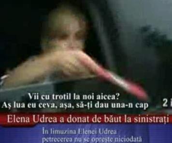 Video exclusiv: Elena Udrea, chef monstru în limuzina cu care s-a deplasat în Moldova