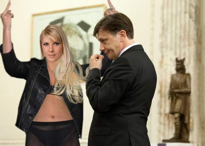 Elena Udrea, semne obscene la adresa lui Crin Antonescu