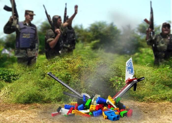 Armata statului Liechtenstein a doborât un elicopter LEGO