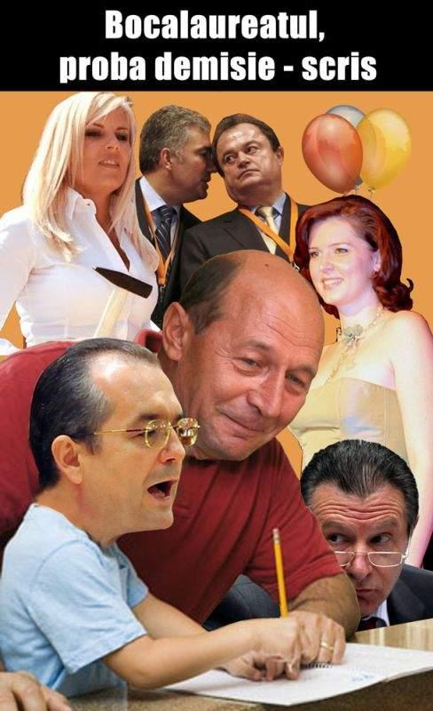 Asistat de Traian Băsescu, Emil Boc şi-a scris demisia din fruntea Guvernului