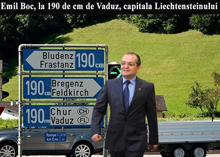 """Emil Boc pleacă în Liechtenstein: """"Vreau o ţară vastă, unde să mă pierd uşor în mulţime"""""""