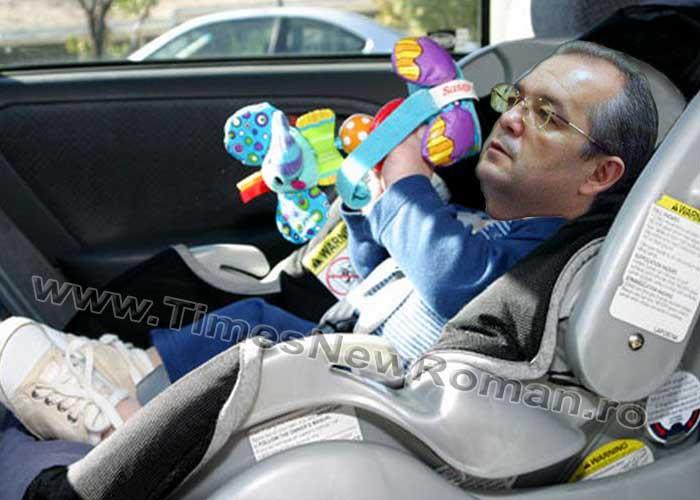 Emil Boc, pieton pentru o zi: i s-a furat scaunul auto pentru copii