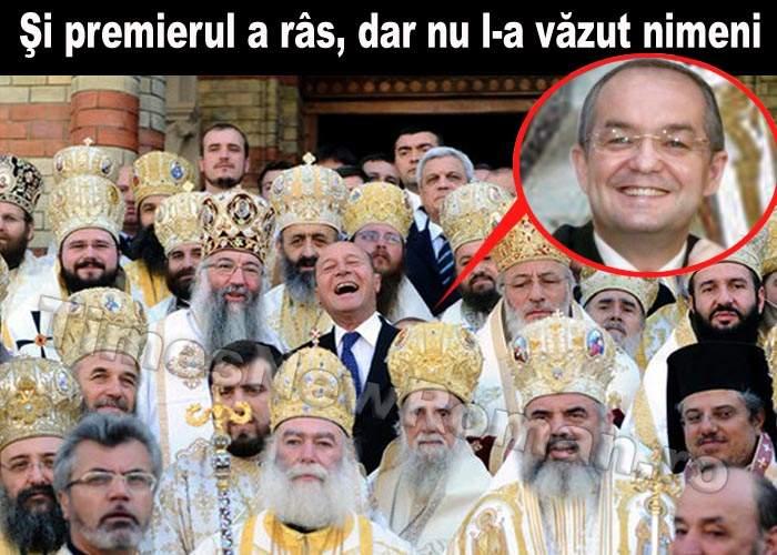 Fotografia anului: Emil Boc râzând în hohote în spatele lui Băsescu