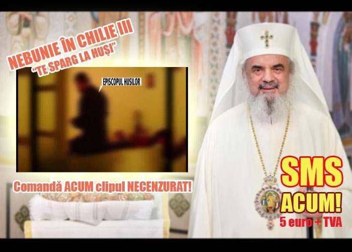 Biserica nu se dezminte! Ca să vezi filmul cu episcopul de Huşi necenzurat trebuie să plăteşti 5 euro prin SMS