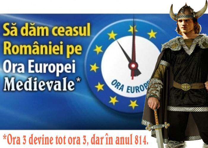 România trece la ora Europei Medievale! Ora 3 devine tot ora 3, dar în anul 814