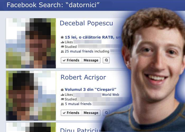 Facebook Search a detronat deja Google! Secretul: îţi găseşte prietenii care îţi datorează bani