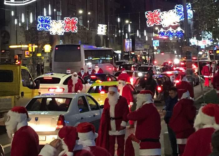 (P) Șoferii blocați în traficul din Capitală au crezut că i-a prins Crăciunul, deși mai erau cinci zile până atunci