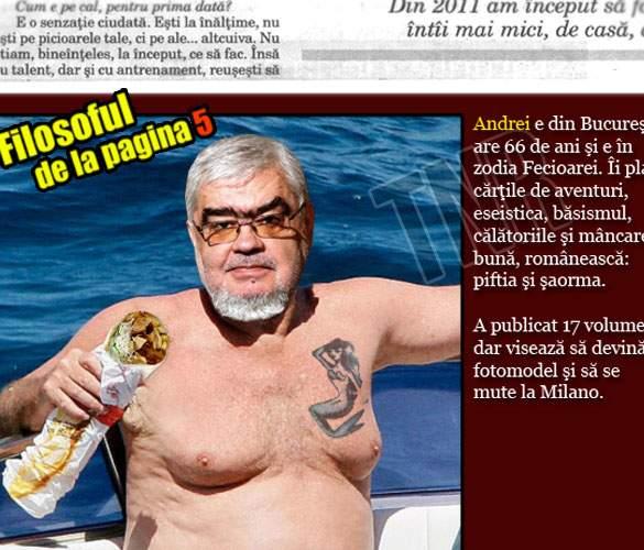"""Cei mai mari gânditori ai ţării, topless! Dilema Veche introduce rubrica """"Filosoful de la pagina 5"""""""