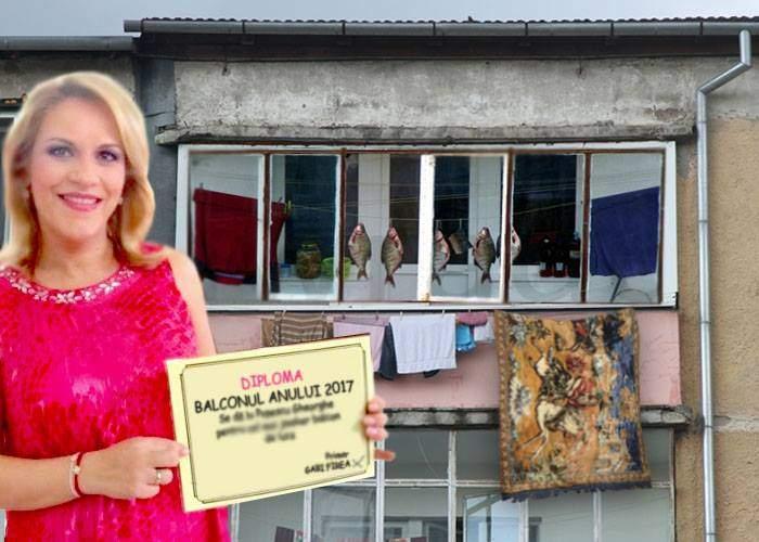 Țăranca tot țărancă! Firea a dat premiul pentru cel mai frumos balcon unui bucureștean care și-a pus carpeta la uscat