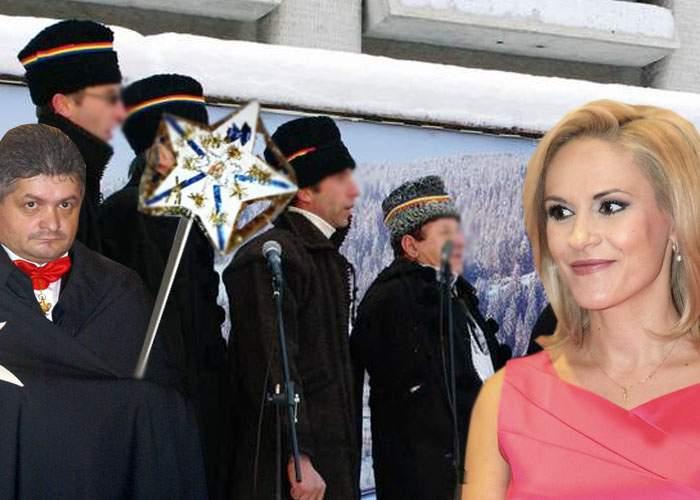 Tradiţii! O ceată de colindători PSD a sosit la Primărie iar Firea le-a dat 4 milioane de euro şi covrigi