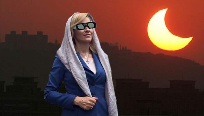 N-a rămas indiferentă la eclipsa din SUA! Gabi Firea a promis că le va oferi bucureştenilor o eclipsă în weekend
