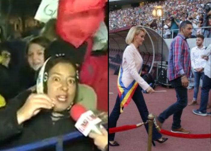 Gata cu fake news-urile! N-a huiduit nimeni pe stadion, se auzea Floricica Dansatoarea care huiduia la Cotroceni