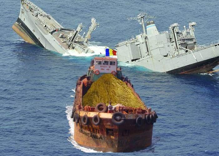 Alte incidente în Marea Neagră! O barjă care transporta pufuleți a scufundat 5 fregate rusești
