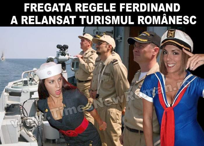 """Fregata """"Regele Ferdinand"""" s-a întors în port să mai ia băutură"""