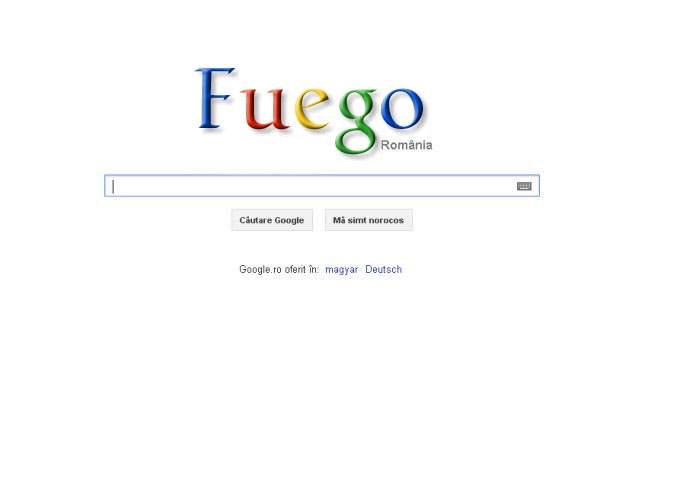 Google îl omagiază azi pe Fuego printr-un logo special