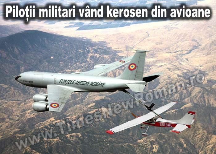 Avion militar surprins când vindea combustibil unui avion particular
