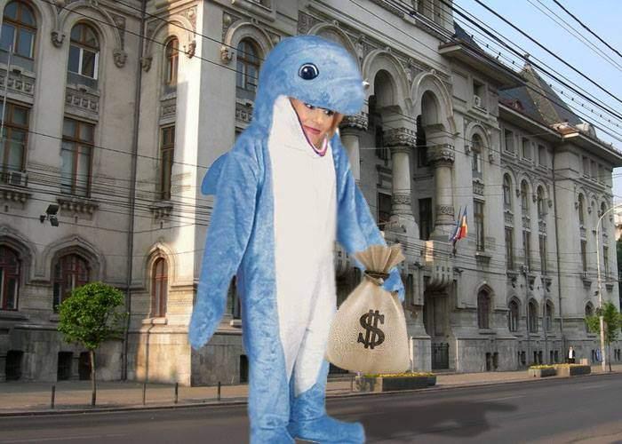 Gabi Firea pretinde că o balenă albastră a intrat în sediul Primăriei și a furat 200 de milioane de euro