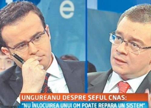 Voiculescu îl bănuieşte pe Gâdea de blat în dezbaterea cu premierul Ungureanu