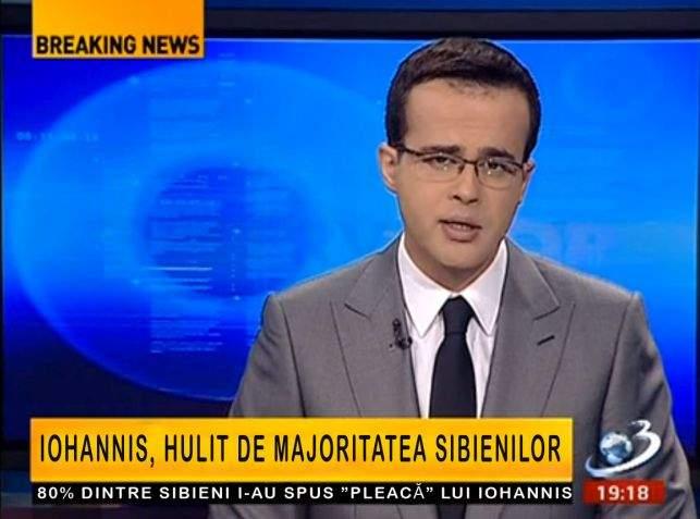 """Antena3: """"Sibienii îl urăsc pe Iohannis! Așa se explică că 80% au votat ca să scape de el ca primar"""""""