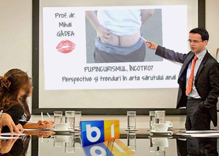 Angajații B1TV se perfecționează la pupincurism! Vor primi training de la însuși sensei Mihai Gâdea