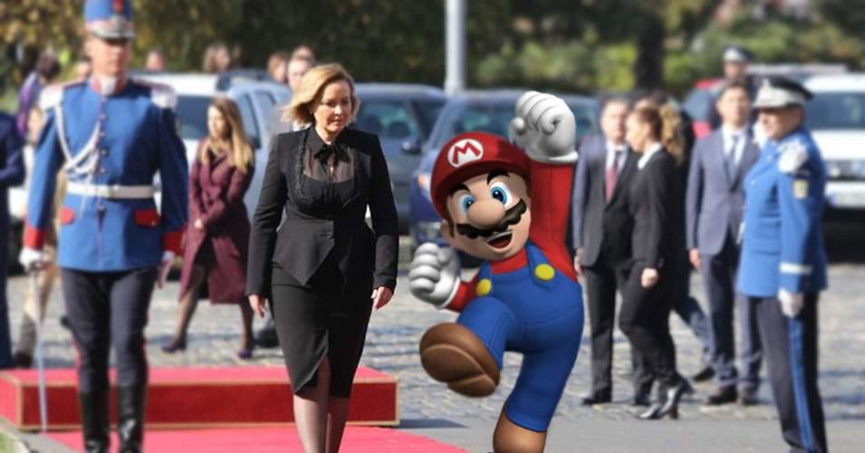 Carmen Dan, gafă majoră în Italia. L-a confundat pe Mario cu fratele lui, Luigi