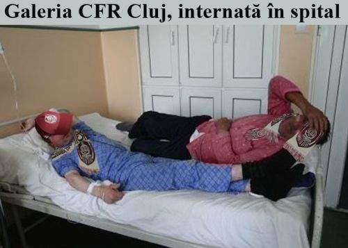 Suporterii CFR Cluj au făcut toxiinfecţie alimentară de la senvişurile primite din partea clubului