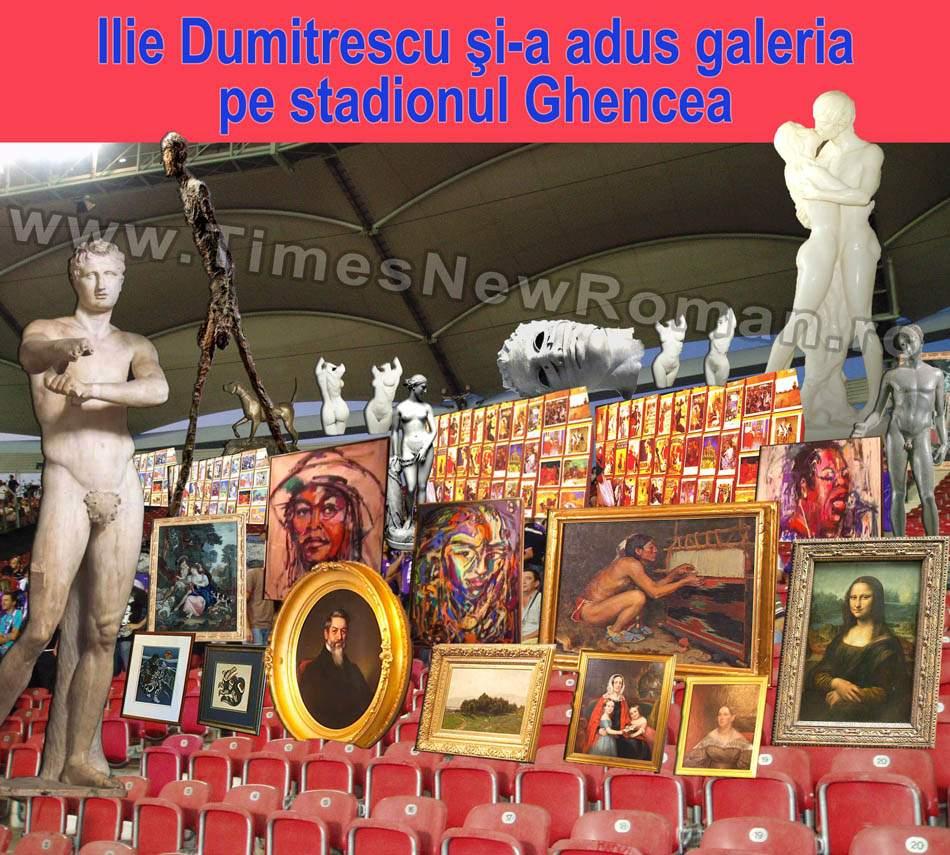 """Ilie Dumitrescu: """"N-am nevoie de suporteri, o să aduc pe stadion galeria mea de artă"""""""