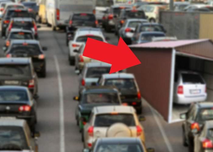 Grijuliu! Un bucureștean blocat în trafic de câteva ore și-a făcut deja garaj în jurul mașinii