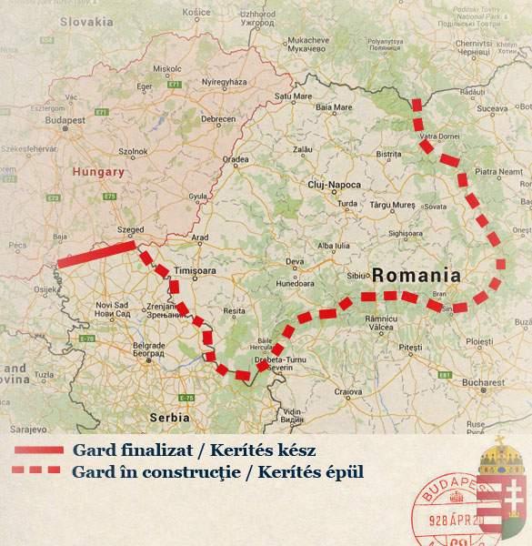 Foto! Traseul gardului de sârmă ghimpată construit de unguri la graniţa cu România