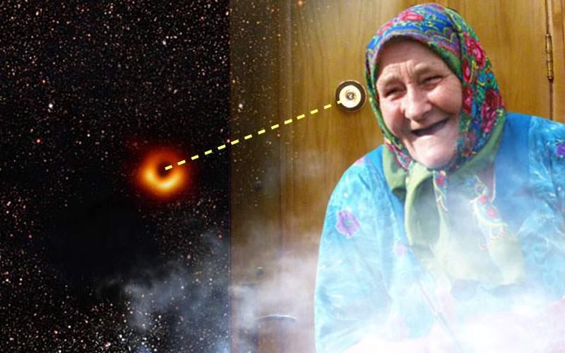 NASA: Gaura neagră e un fel de vizor prin care se uită la noi o babă din alt univers