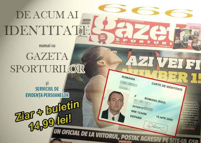 Ca să ajungă mai repede la populație, noile cărți de identitate se vor da cu Gazeta Sporturilor