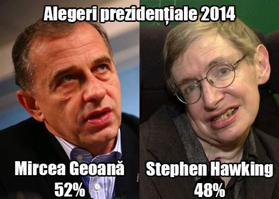 Un sondaj comandat de Geoană a scos la iveală că acesta l-ar bate și pe Stephen Hawking la IQ