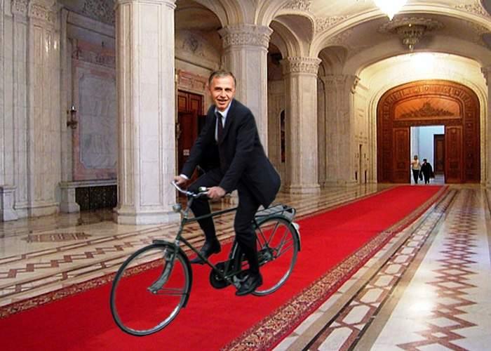 Mircea Geoană, convins să renunţe la şefia Senatului după ce i s-a promis o bicicletă