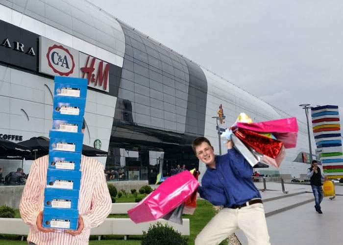 Românii merg diseară la mall să-și cumpere câte 10 perechi de ghete, ca să aibă Moşul ce să umple