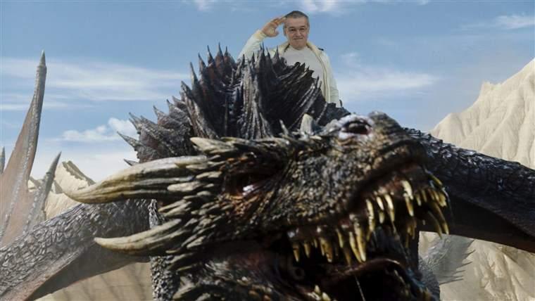 """Impresionat de Game of Thrones, Gigi Becali a decis: """"Din toamnă, 4-5 dragoni la echipă!"""""""