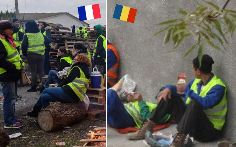 Franţa ne-a copiat? Drumarii români poartă veste, încurcă traficul şi cer bani de prin '90