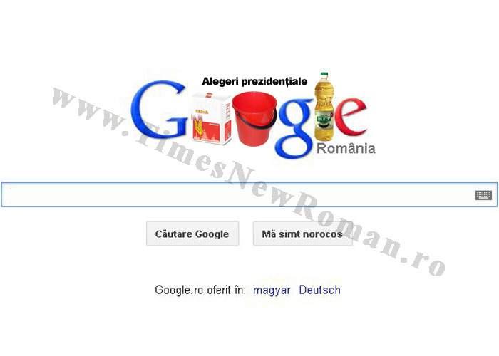 Foto! Google celebrează alegerile din România printr-un logo special