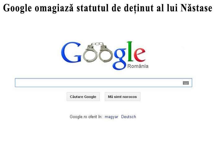 Google omagiază statutul de deţinut al lui Adrian Năstase