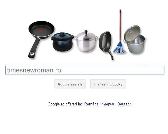 Foto! Google aniversează azi printr-un logo special 6000 de ani de la domesticirea femeii