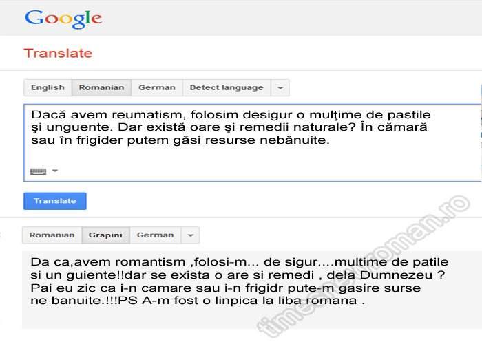 Poza zilei! De luna viitoare, Google Translate va putea traduce din Grapini în română şi invers