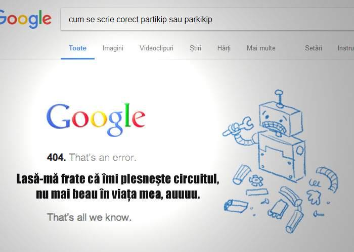 Google a sărbătorit ieri 19 ani şi a cam exagerat cu alcoolul! Orice cauţi azi, spune că îl doare capul şi se închide