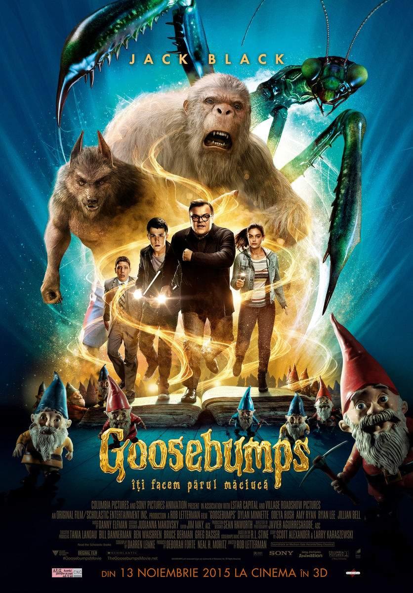 Goosebumps (2015) – Copii, mai deschideți și voi o carte