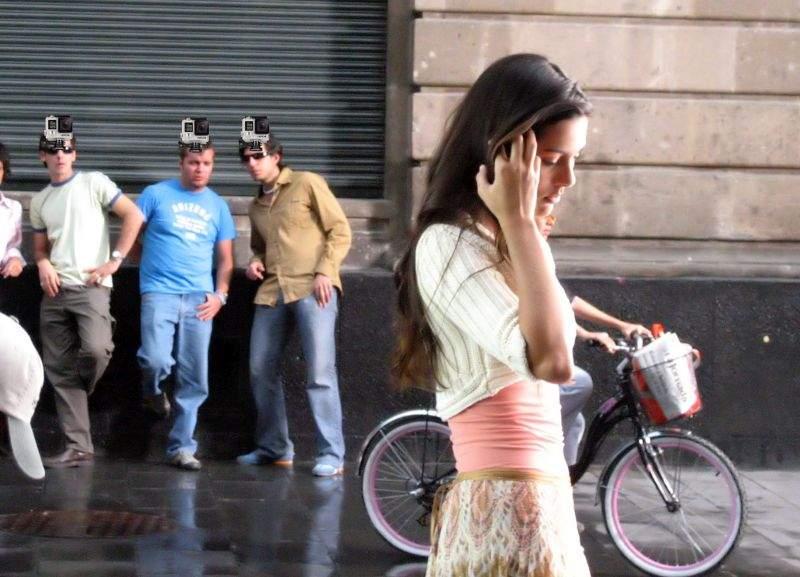 O femeie a montat un GoPro pe capul soțului, ca să-l certe când se uită după alte femei