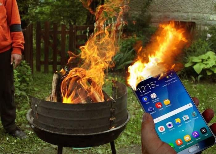 """Românii refuză să predea telefoanele Samsung care iau foc: """"Cu ce mai aprindem grătarul?"""""""