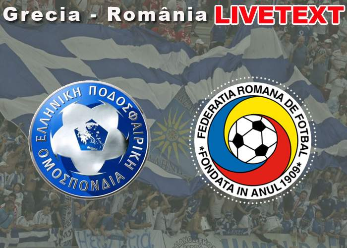 Grecia – România, LIVETEXT din redacţia TNR