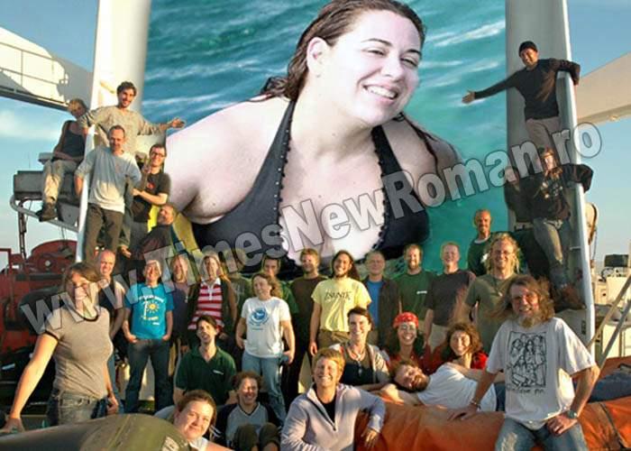 Activiştii Greenpeace cer ca Oana Roman să fie eliberată în ocean