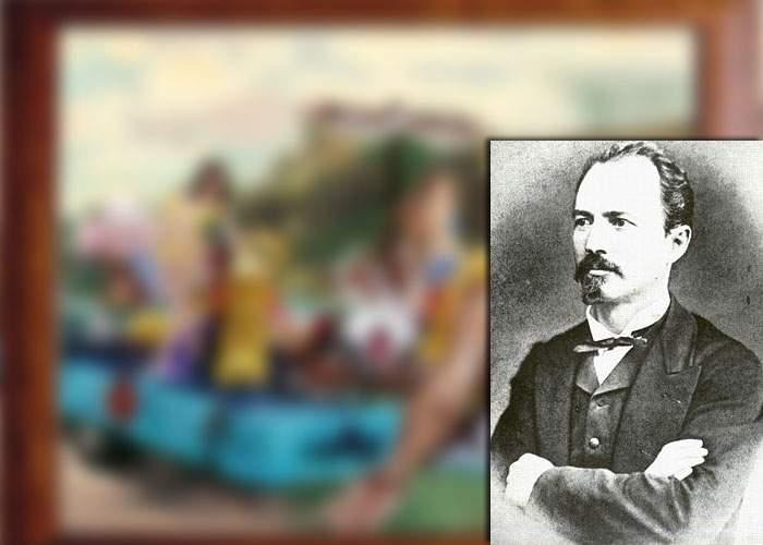 """Poza zilei! Radu Mazăre, prevestit de Grigorescu încă din 1890, în tabloul """"Car alegoric cu bou"""""""