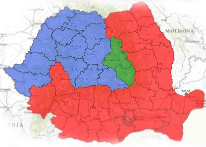 Harta rezultatelor confirmă: Ne-am întors în 1859! Moldova acaparează Muntenia, Oltenia şi Dobrogea