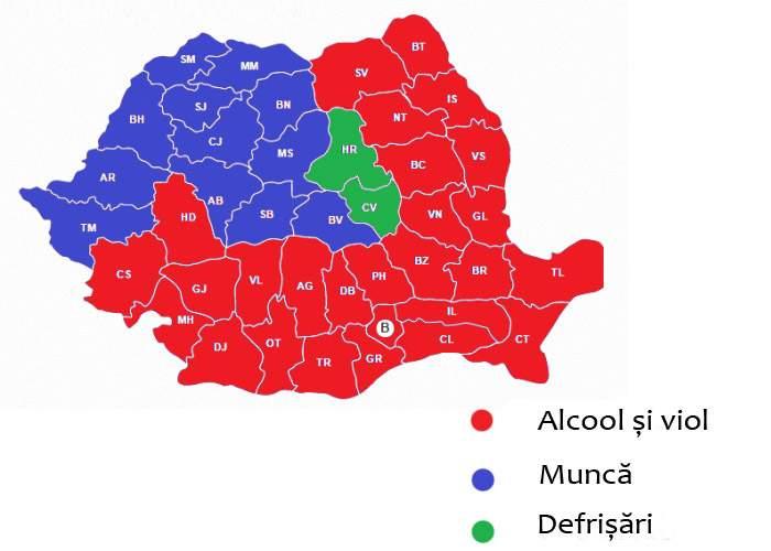 Ceva chiar că e suspect! Harta violurilor coincide perfect cu harta celor care votează PSD!