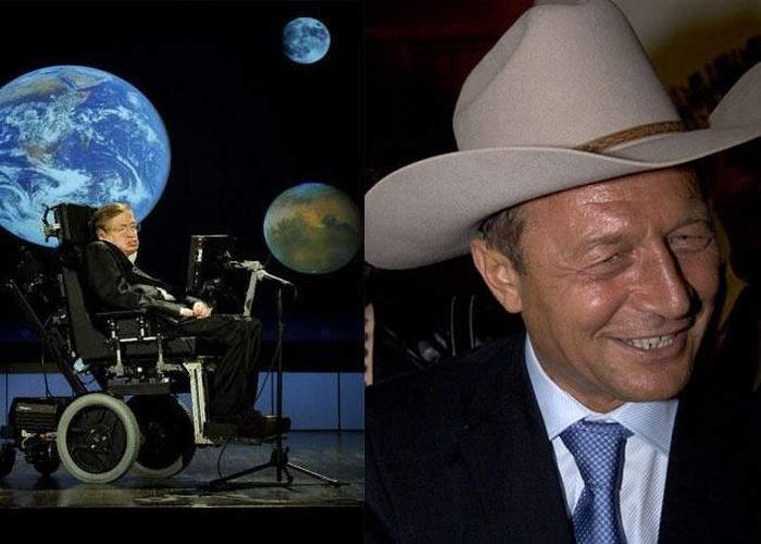Stephen Hawking susţine că universul a fost creat de Traian Băsescu